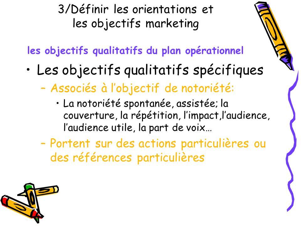 Les objectifs qualitatifs spécifiques