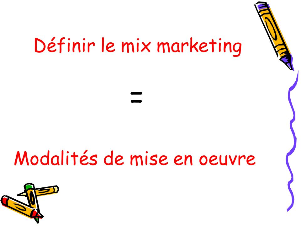 Définir le mix marketing