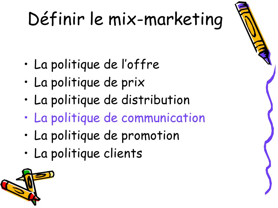 Définir le mix-marketing