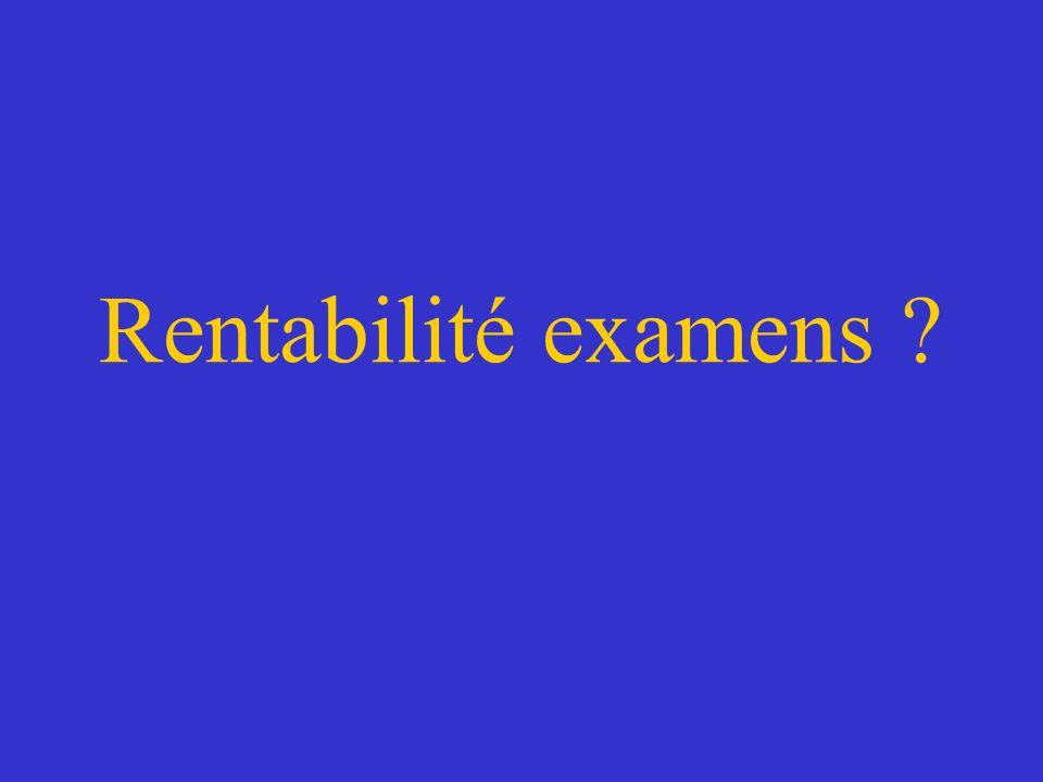 Rentabilité examens