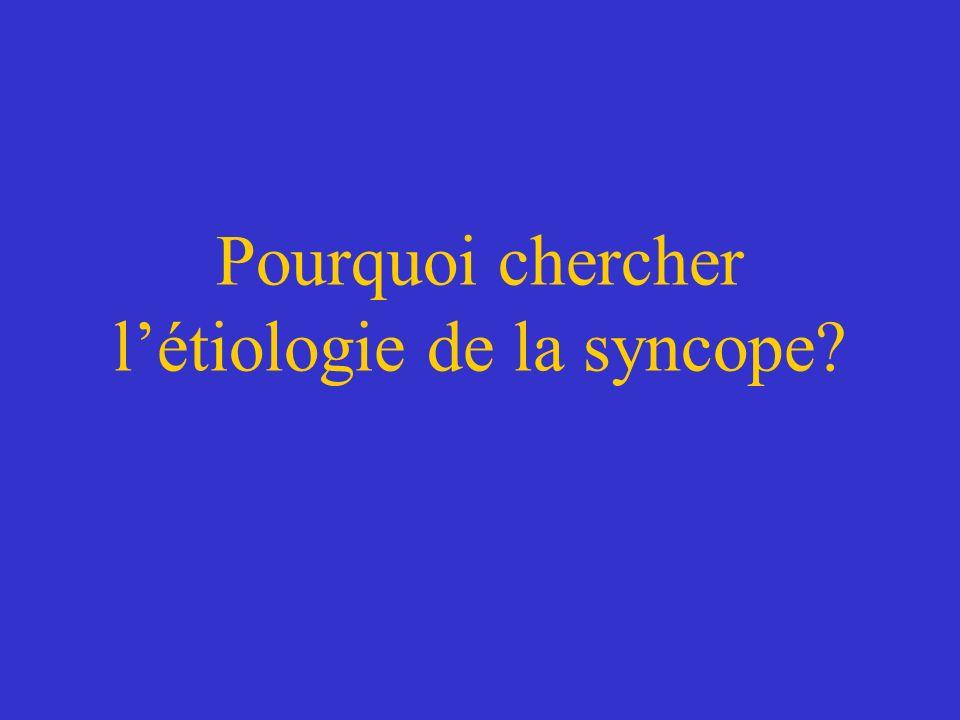 Pourquoi chercher l'étiologie de la syncope