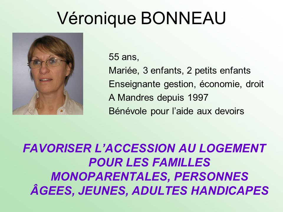 Véronique BONNEAU