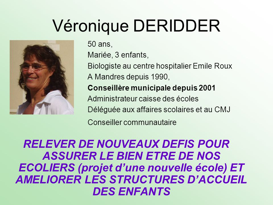 Véronique DERIDDER