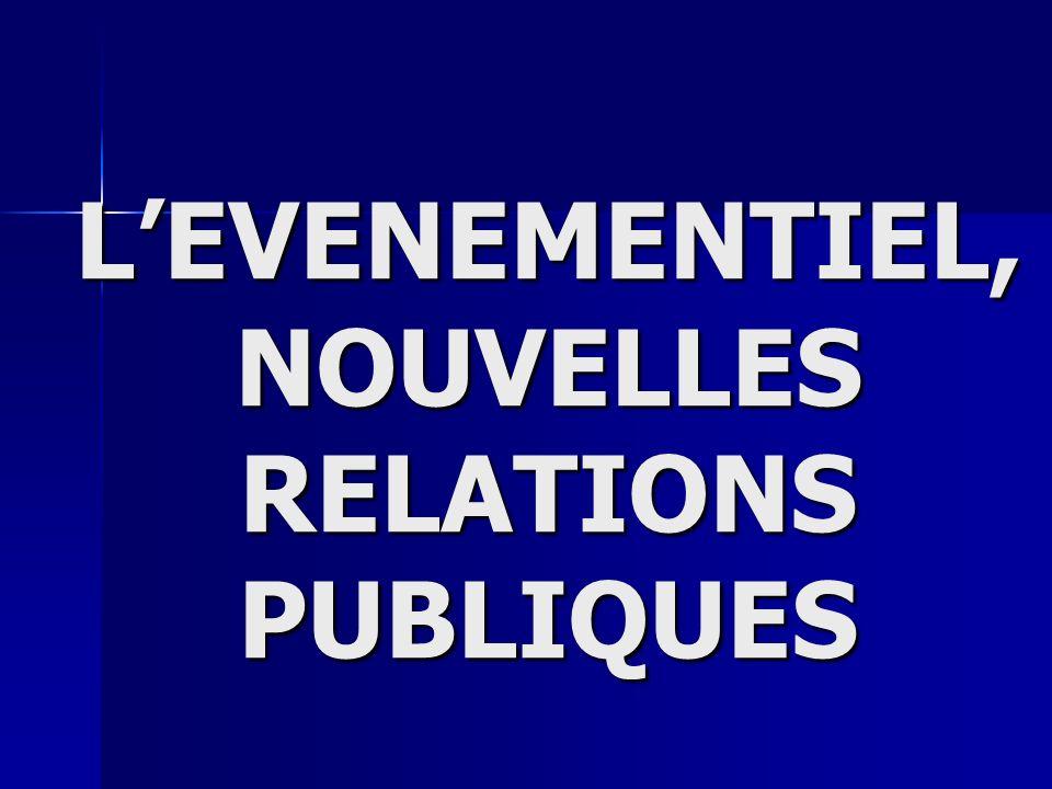 L'EVENEMENTIEL, NOUVELLES RELATIONS PUBLIQUES