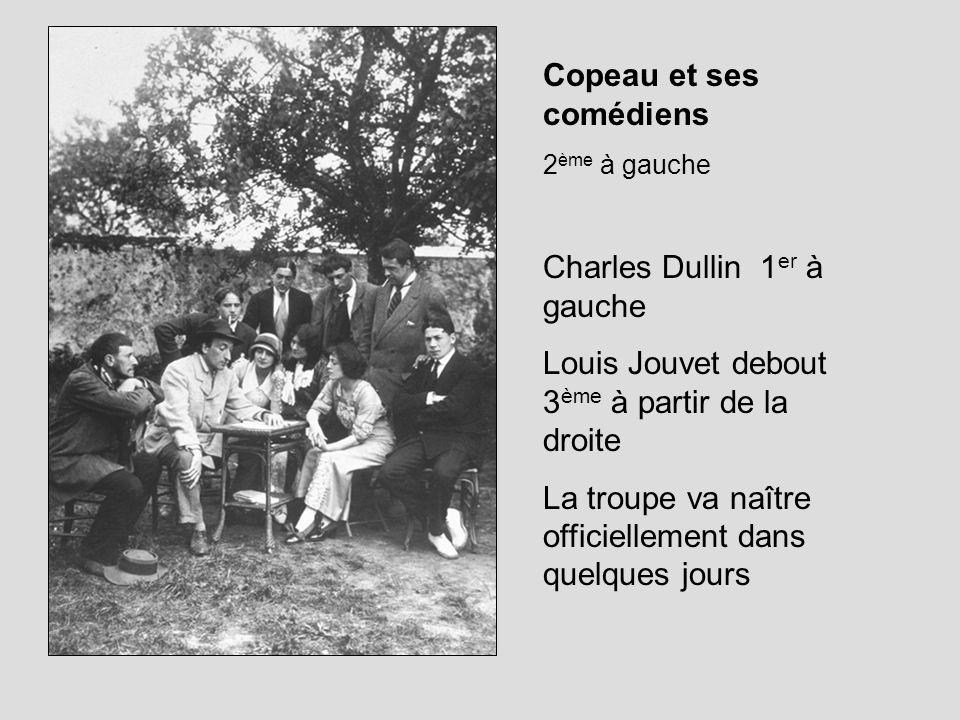 Copeau et ses comédiens