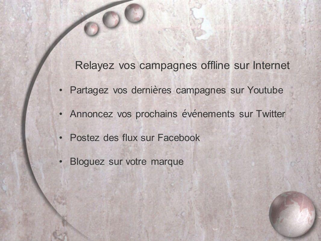 Relayez vos campagnes offline sur Internet