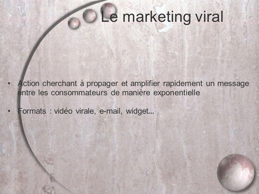 Le marketing viral Action cherchant à propager et amplifier rapidement un message entre les consommateurs de manière exponentielle.