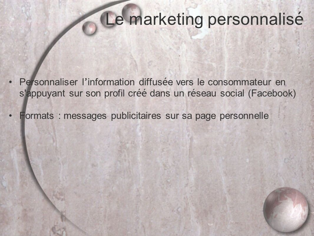 Le marketing personnalisé