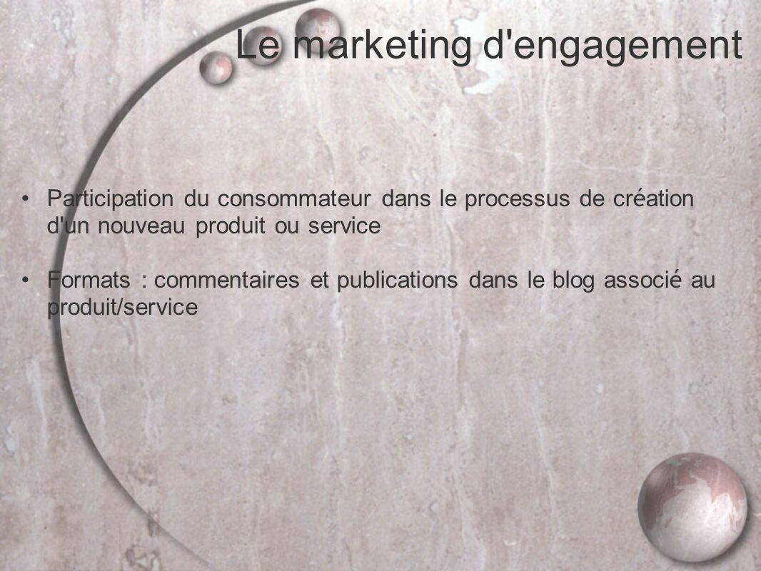 Le marketing d engagement