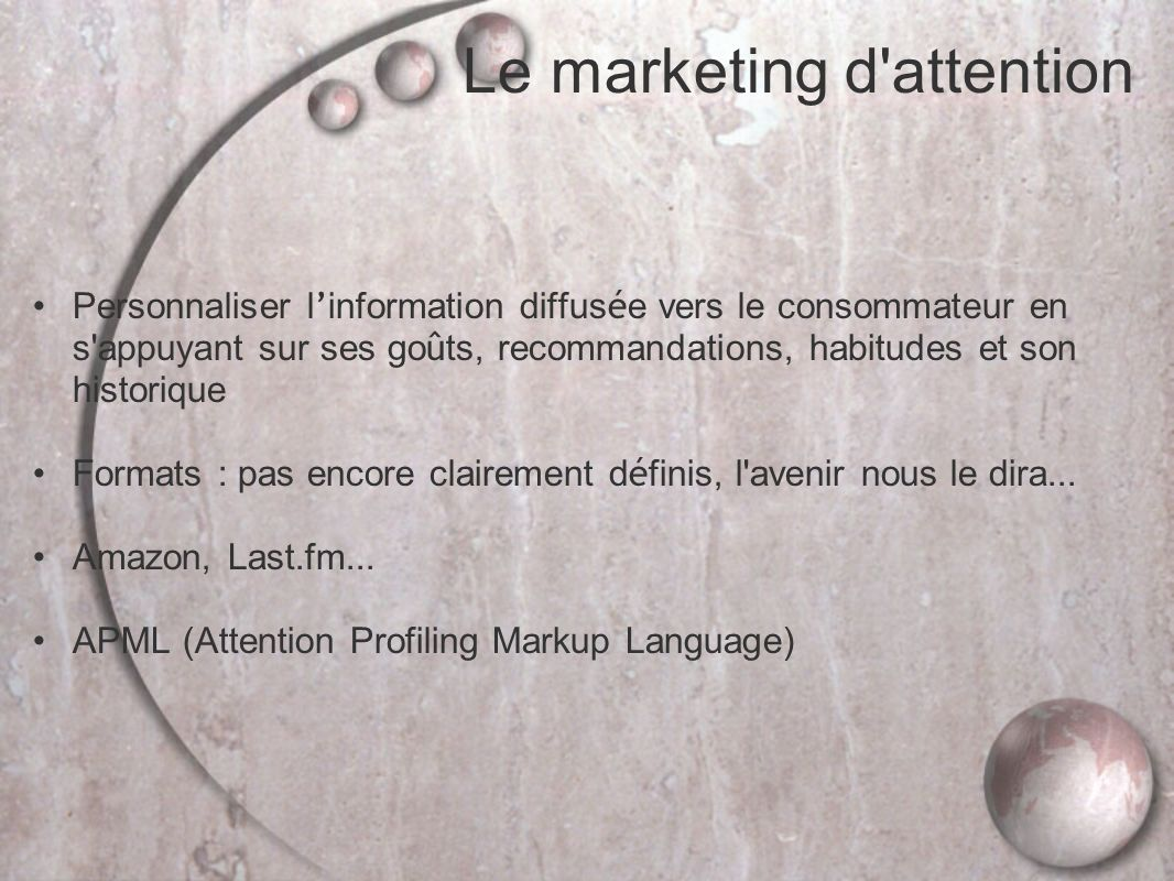 Le marketing d attention