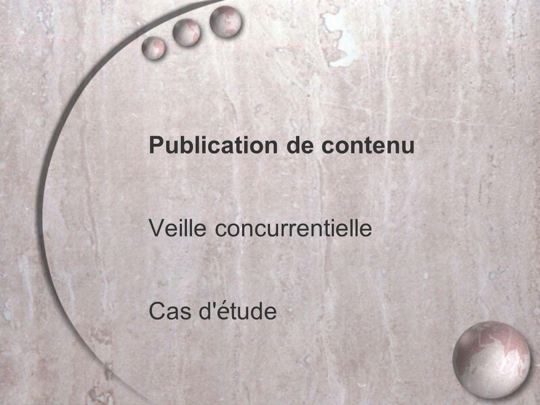 Publication de contenu