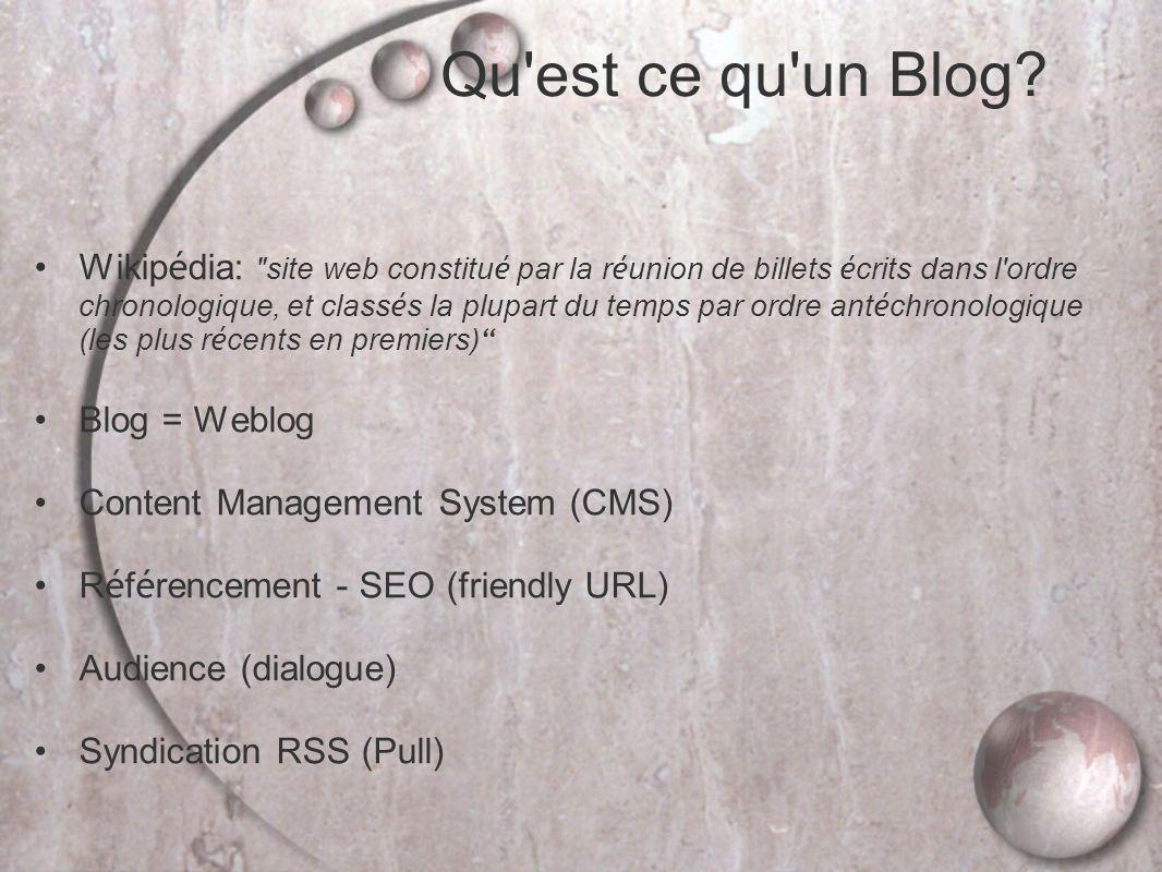 Qu est ce qu un Blog