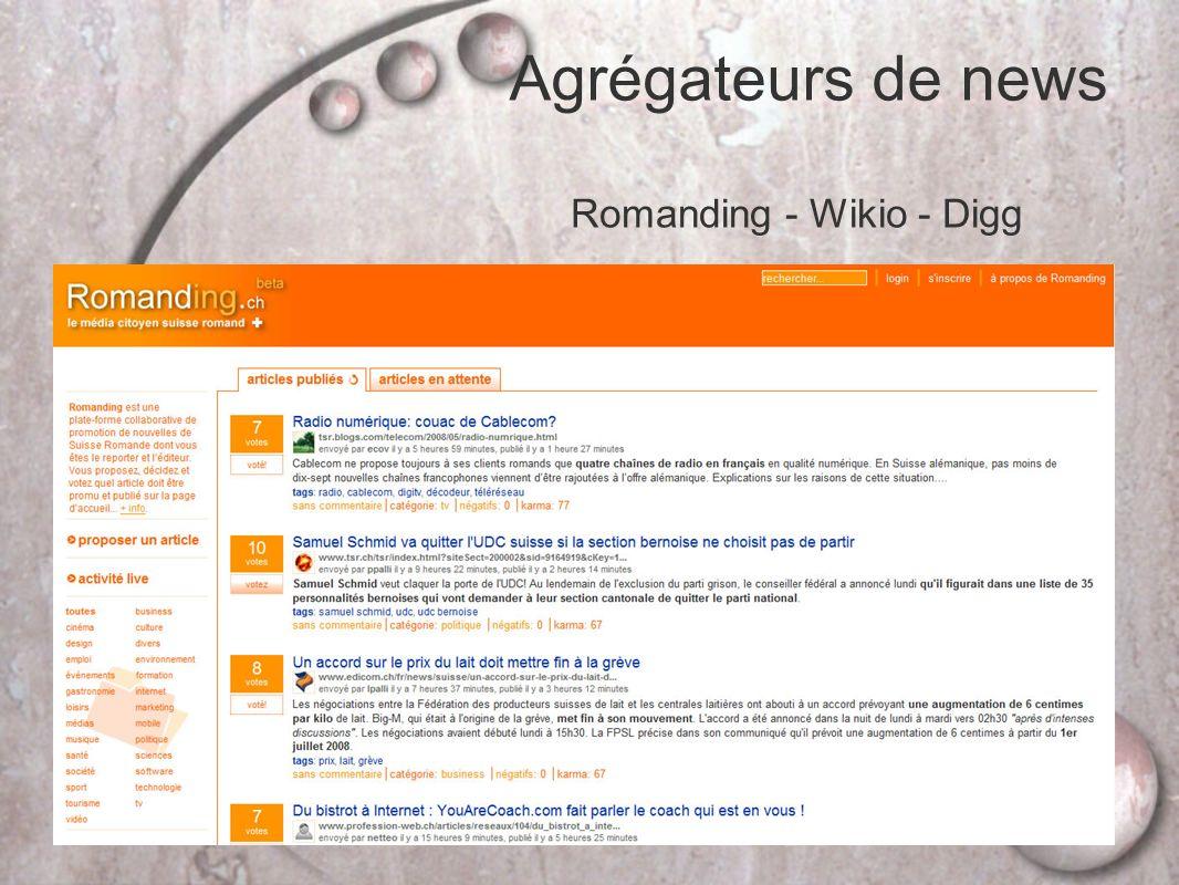 Romanding - Wikio - Digg