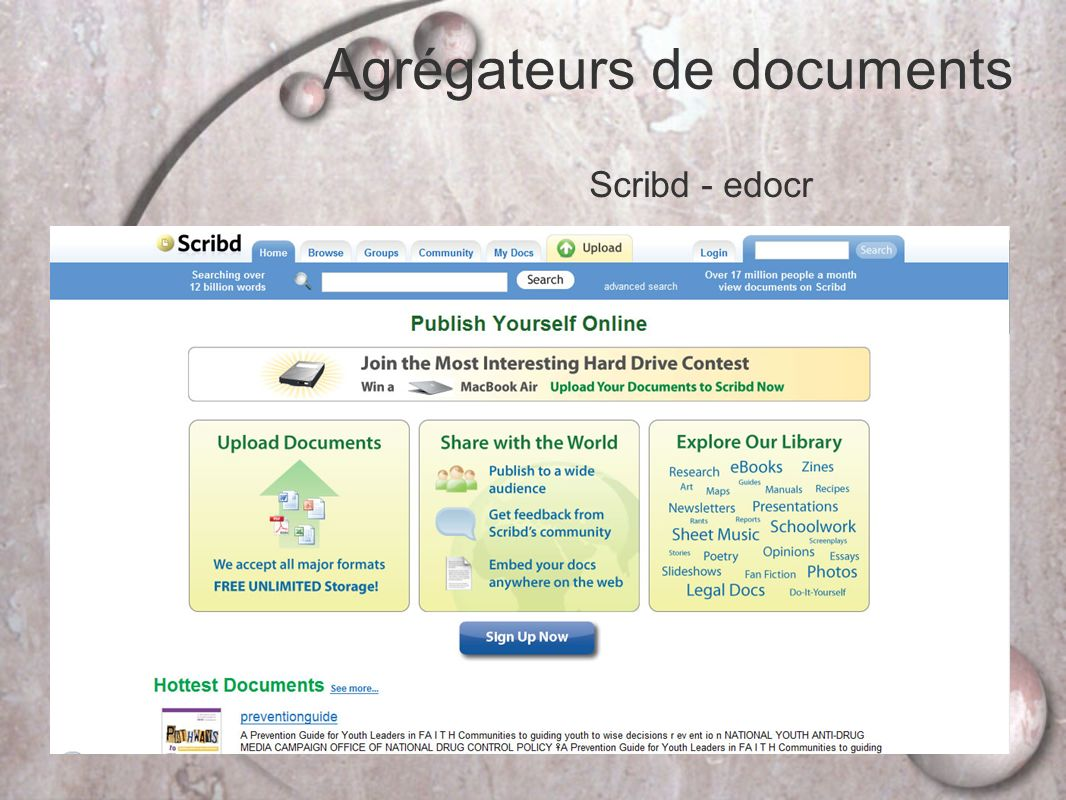 Agrégateurs de documents