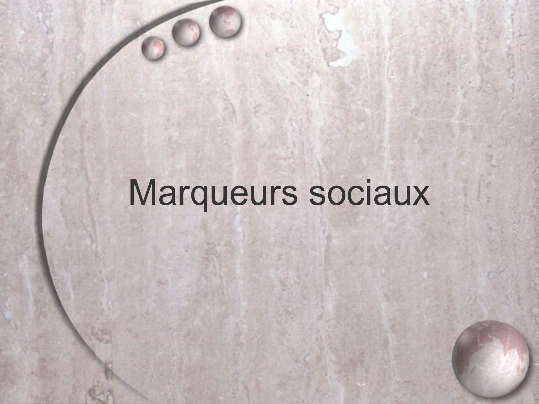 Marqueurs sociaux