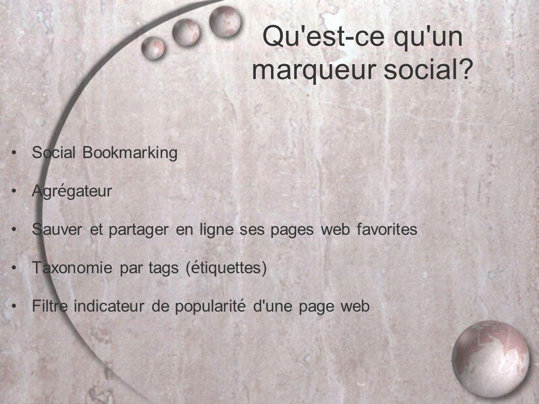Qu est-ce qu un marqueur social