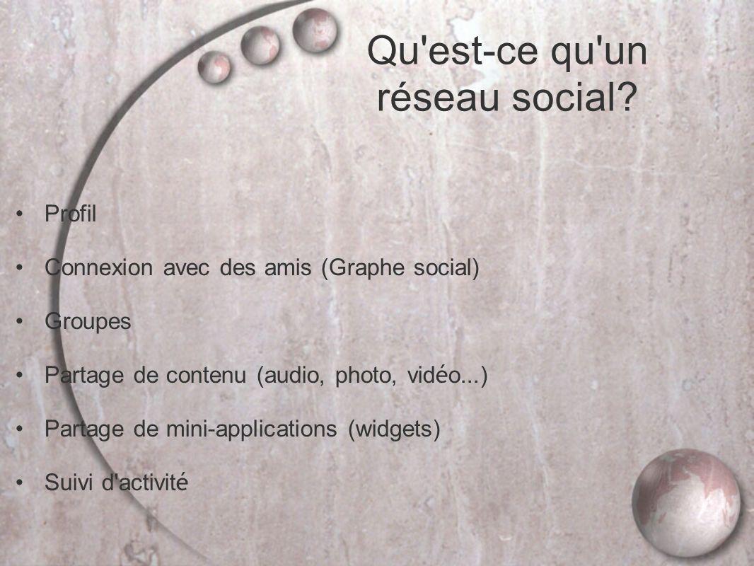Qu est-ce qu un réseau social