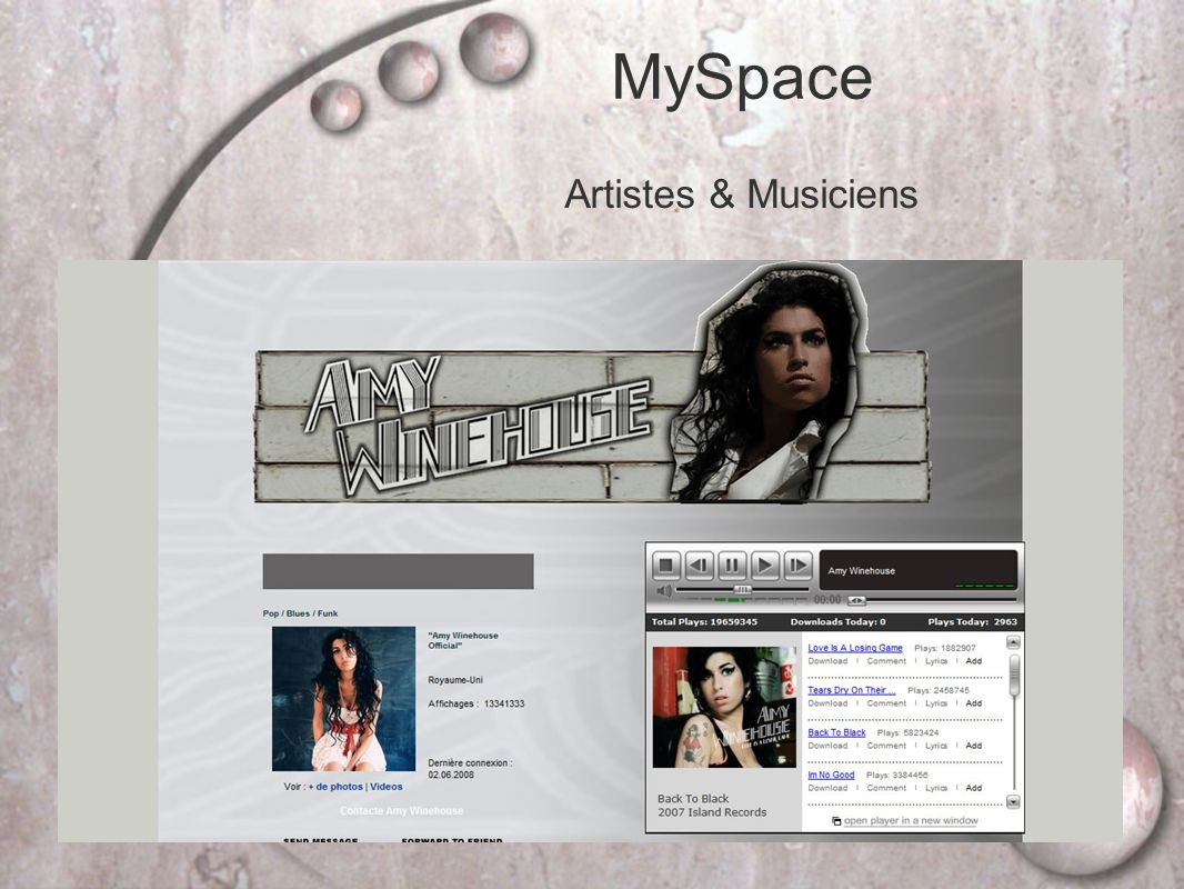 MySpace Artistes & Musiciens