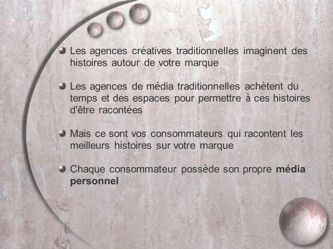 Les agences créatives traditionnelles imaginent des histoires autour de votre marque