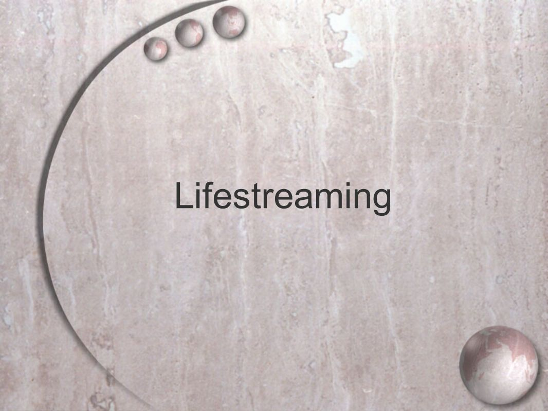 Lifestreaming