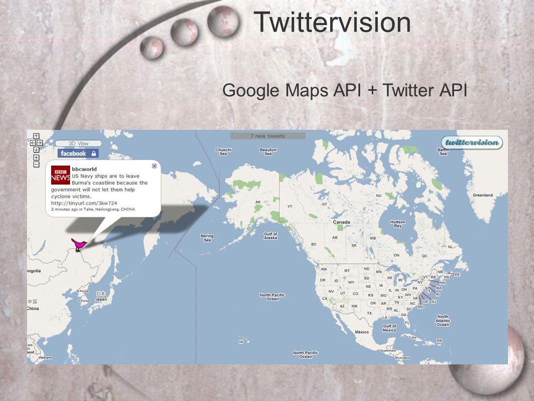 Google Maps API + Twitter API