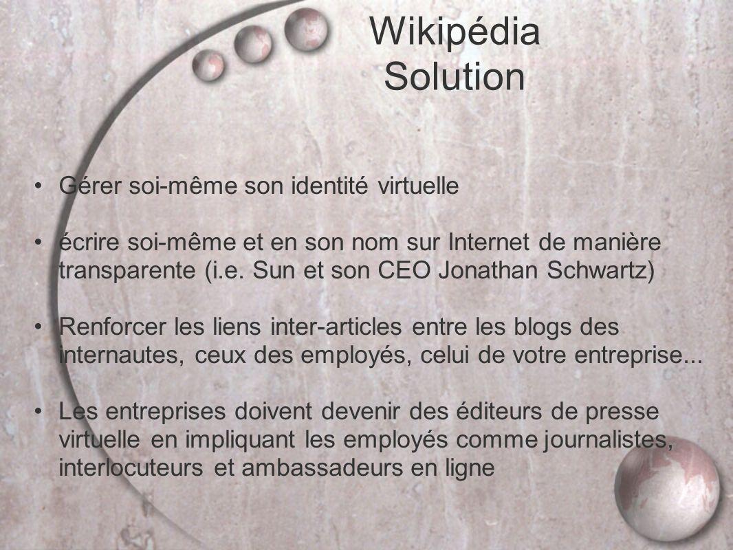 Wikipédia Solution Gérer soi-même son identité virtuelle