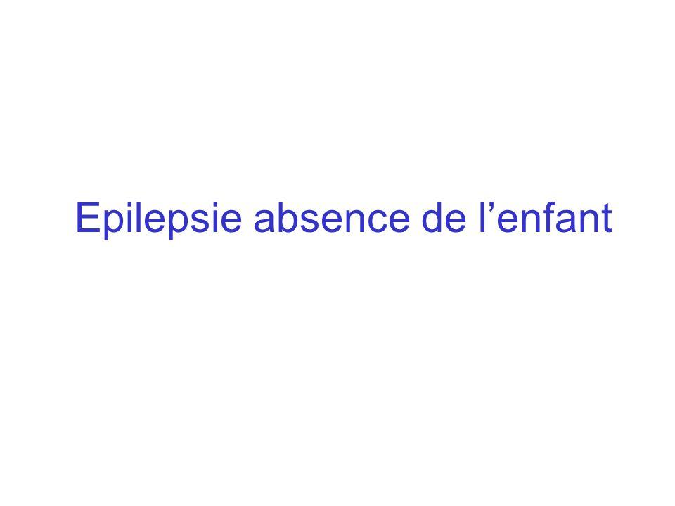 Epilepsie absence de l'enfant