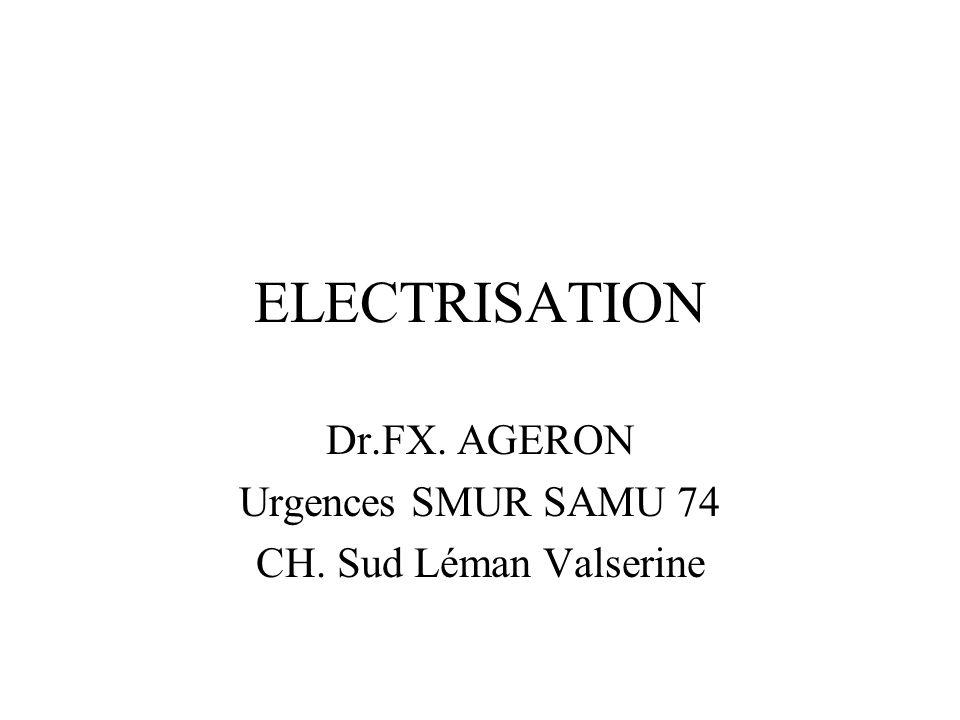 Dr.FX. AGERON Urgences SMUR SAMU 74 CH. Sud Léman Valserine