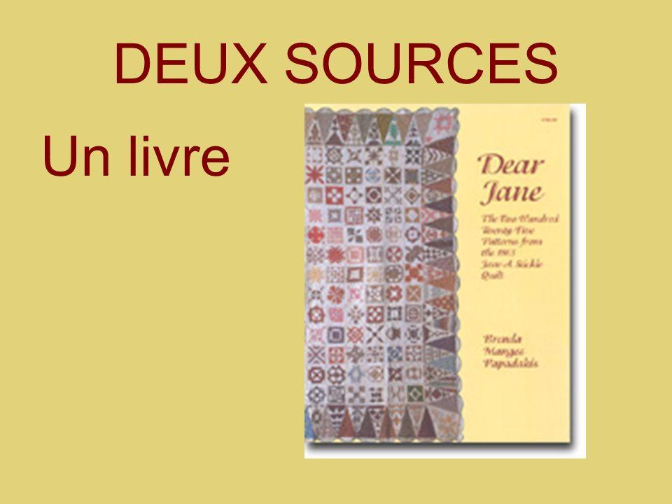 DEUX SOURCES Un livre