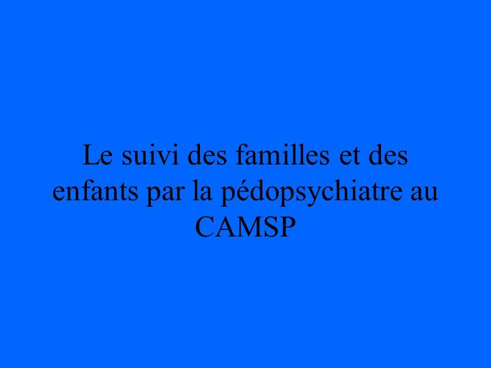 Le suivi des familles et des enfants par la pédopsychiatre au CAMSP