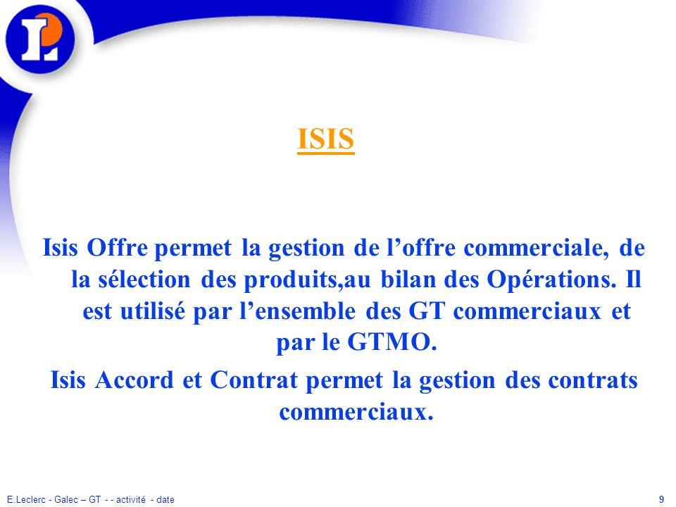 Isis Accord et Contrat permet la gestion des contrats commerciaux.