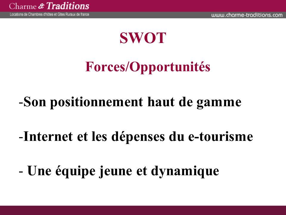 SWOT Forces/Opportunités Son positionnement haut de gamme
