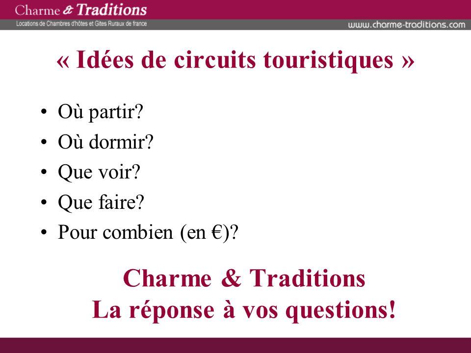 « Idées de circuits touristiques »