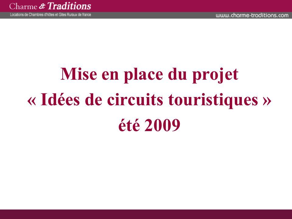 Mise en place du projet « Idées de circuits touristiques » été 2009