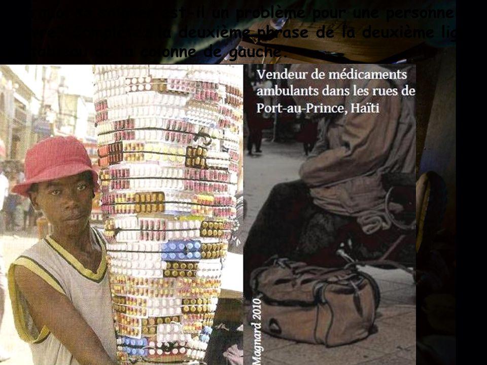 Pourquoi se soigner est-il un problème pour une personne pauvre