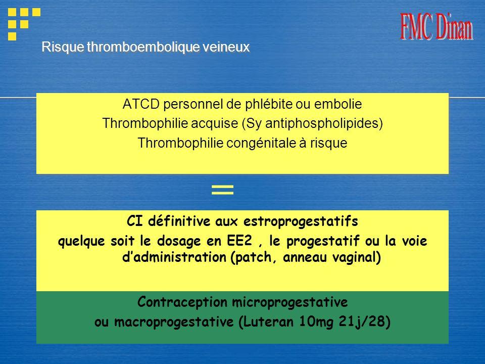 Risque thromboembolique veineux