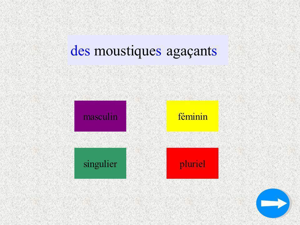 des moustiques agaçants