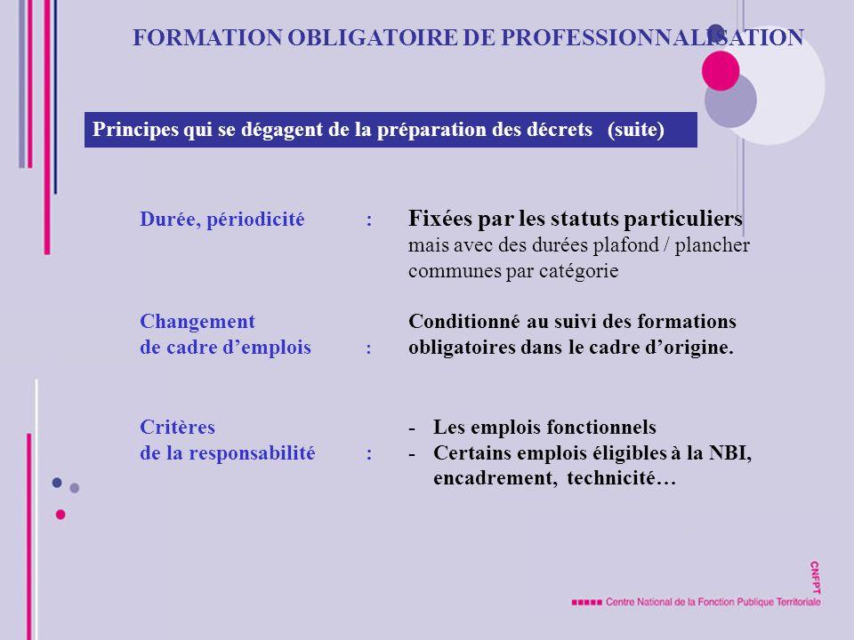 FORMATION OBLIGATOIRE DE PROFESSIONNALISATION