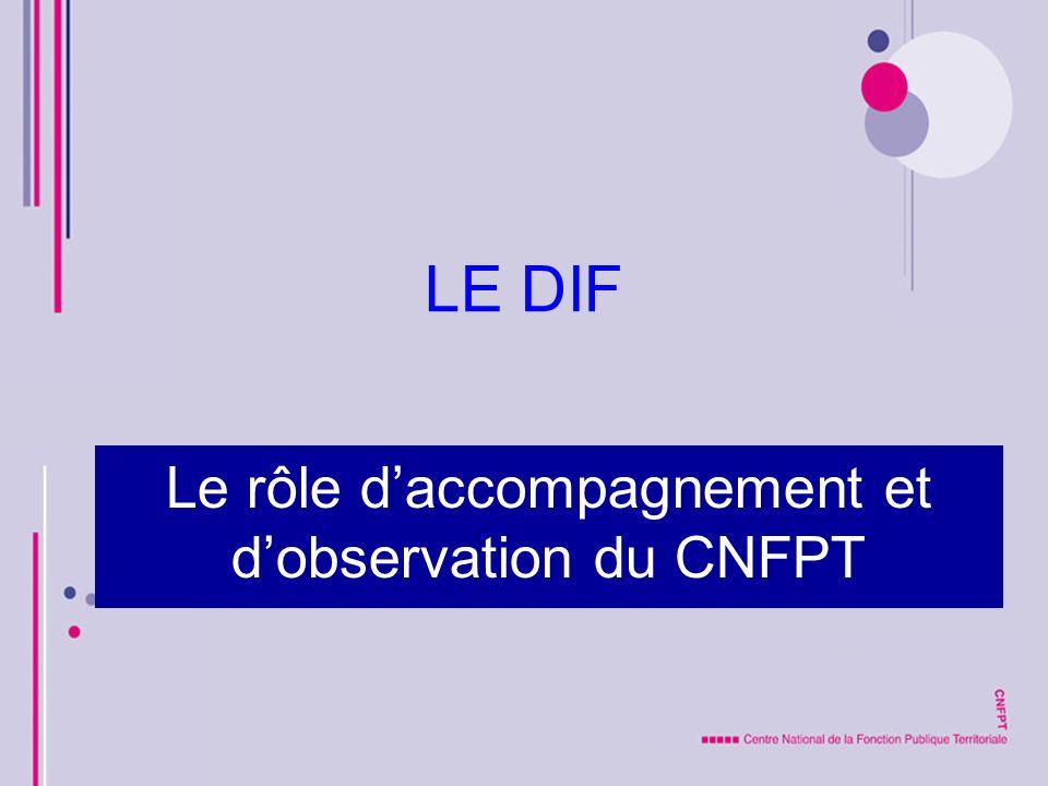 Le rôle d'accompagnement et d'observation du CNFPT