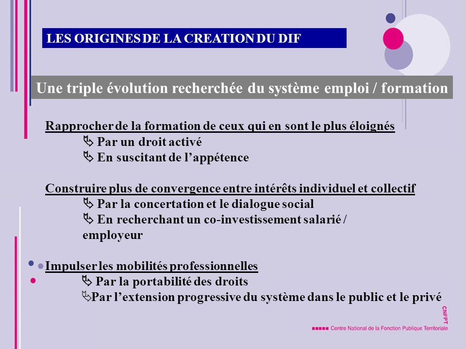 Une triple évolution recherchée du système emploi / formation