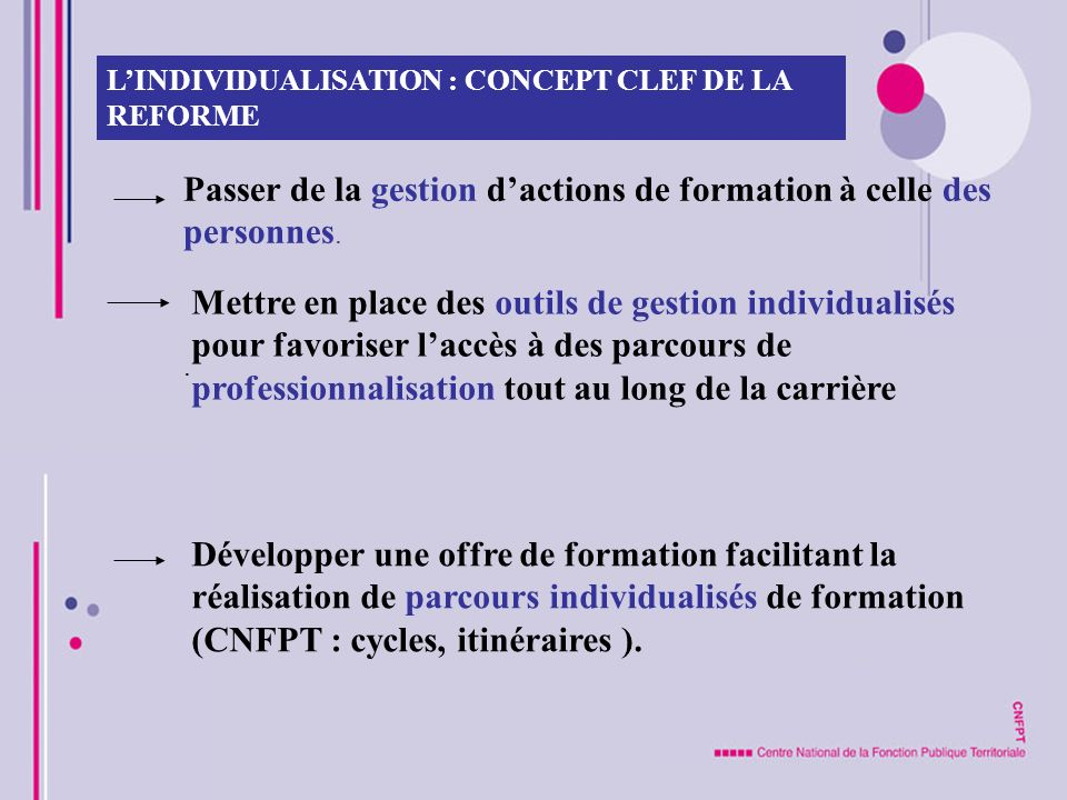 Passer de la gestion d'actions de formation à celle des personnes.