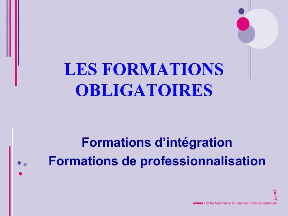 LES FORMATIONS OBLIGATOIRES