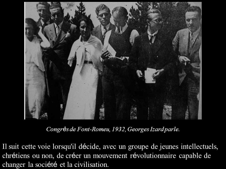 Congrès de Font-Romeu, 1932, Georges Izard parle.