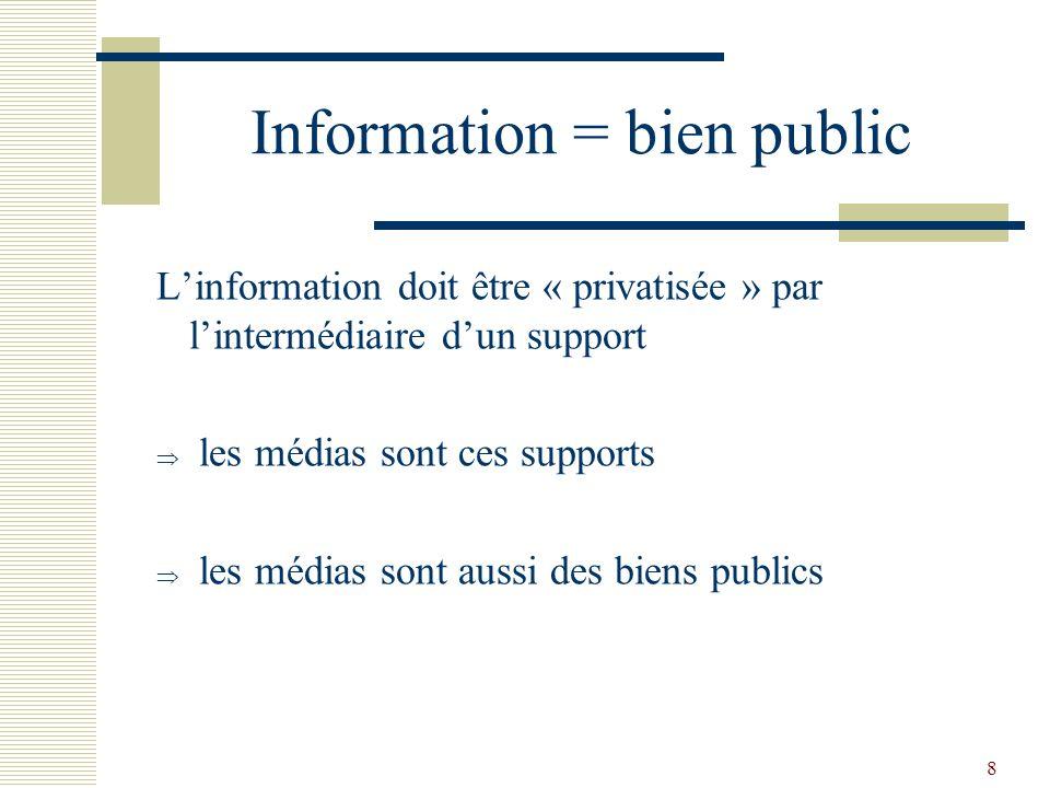 Information = bien public