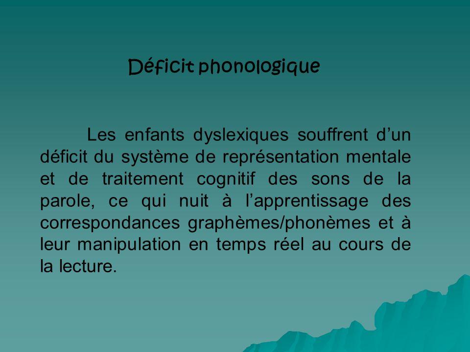 Déficit phonologique