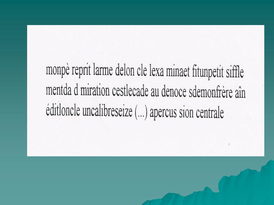 On peut voir qu'un découpage erroné ne peut permettre la compréhension correcte et rapide du texte lu.