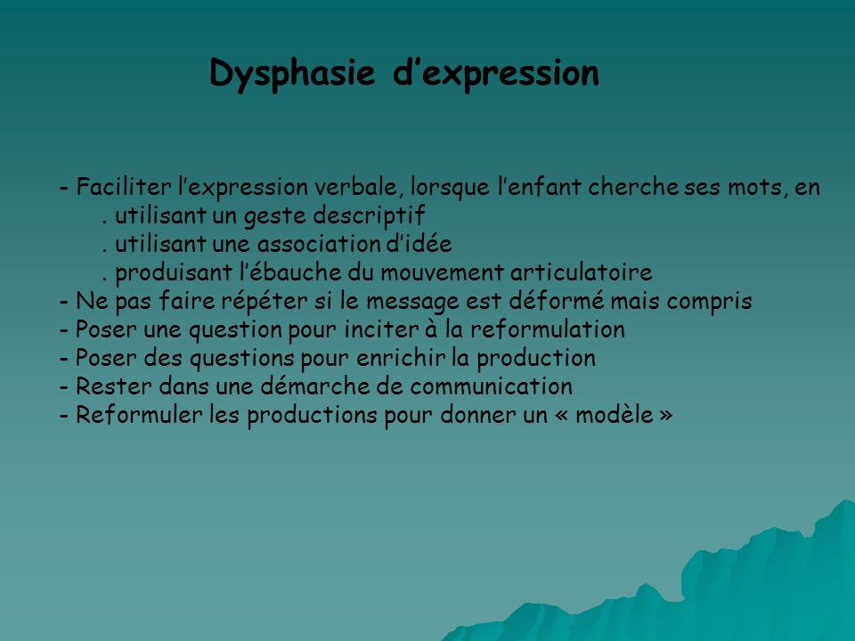 Dysphasie d'expression