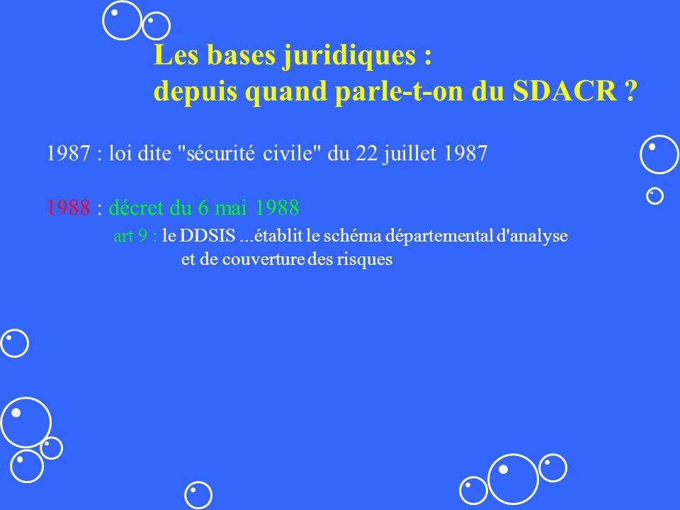depuis quand parle-t-on du SDACR