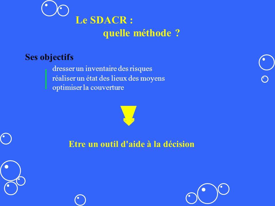 Le SDACR : quelle méthode Ses objectifs