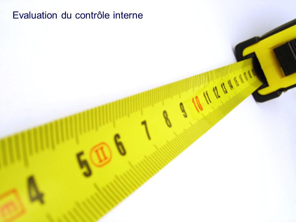 Evaluation du contrôle interne